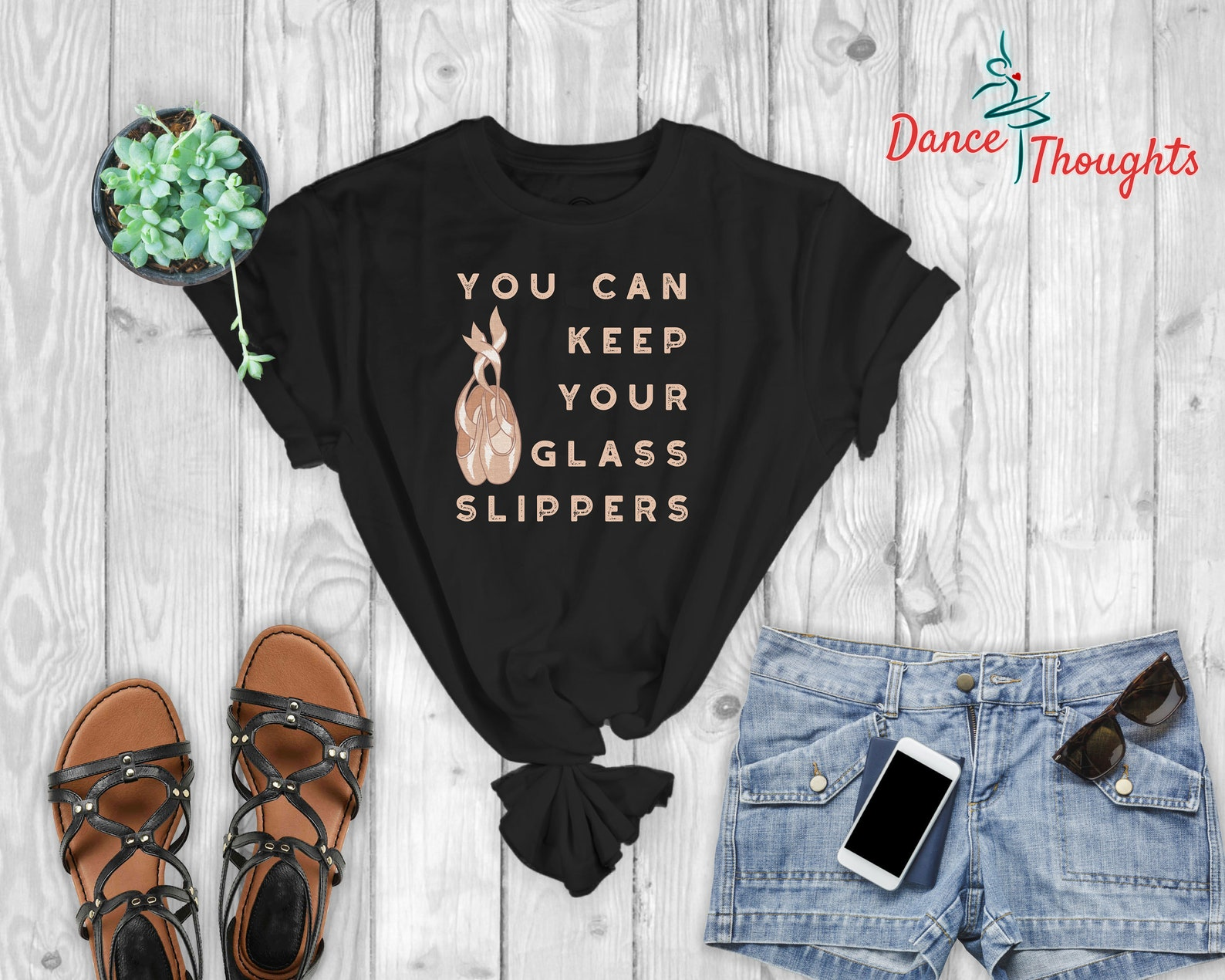 ballet dance pointe shoe shirt recital gift - you can keep your glass slippers