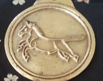 Vintage Korea Horse Warrants Medallion~Map'ae Historical Replica