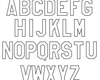Outline Letters Etsy