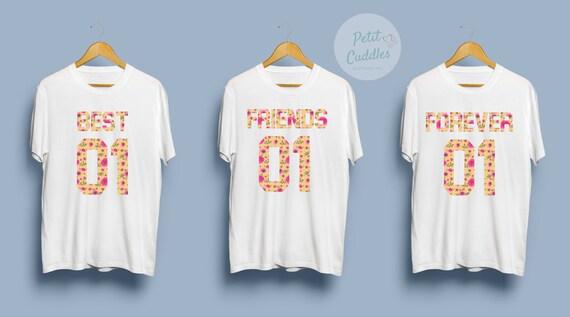 Best Friends Shirt For 3 Friendsmatching Besties Shirtsfriends