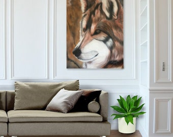 Alaska- Grey Wolf Portrait