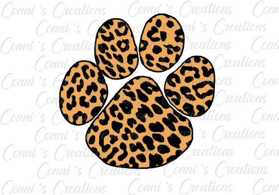 Customizable Leopard Paw Print Sublimation Digital Design Etsy Download 1,881 leopard print free vectors. customizable leopard paw print sublimation digital design png