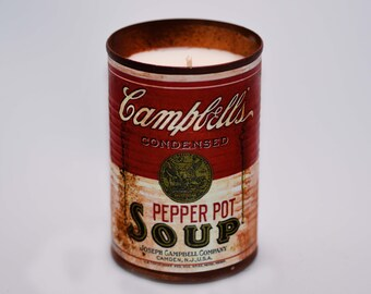 Vegan Soy Vintage Tin Can Candle