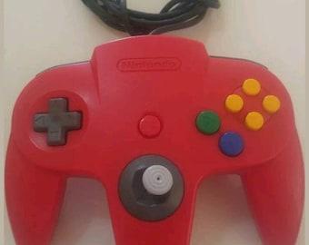 OEM red nintendo 64 controller original N64