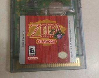 Legend of zelda: oracle  of seasons, (Nintendo gameboy colors 2001.