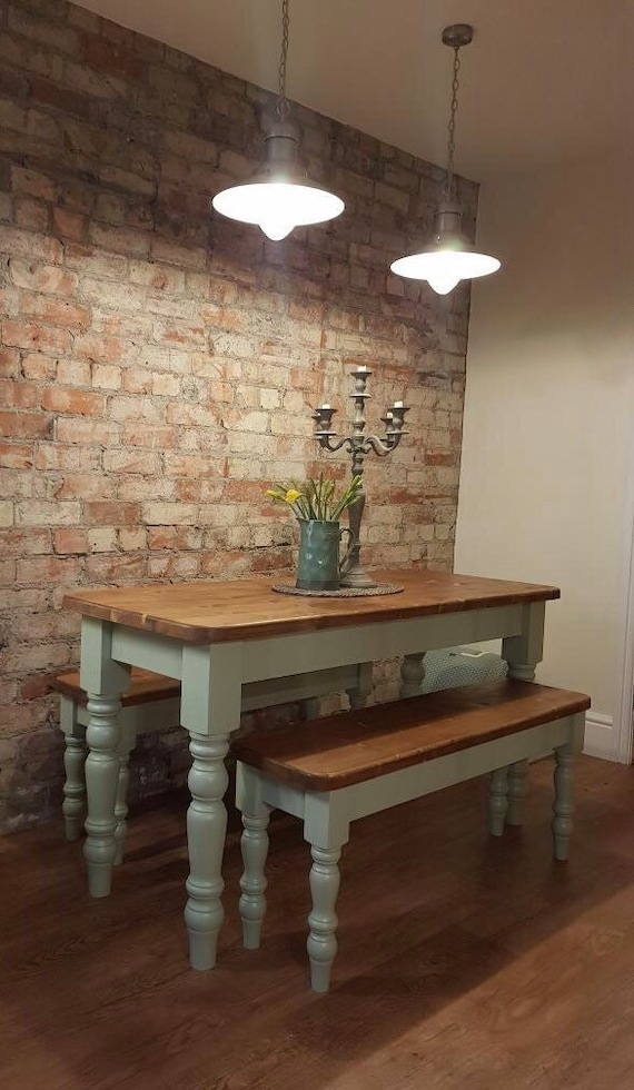 Farmhouse Dining Table 6ft X 2 5ft And One 5ft Bench In Any Etsy