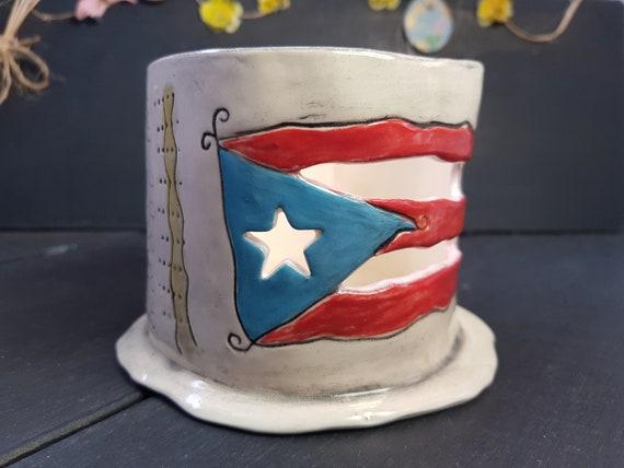 Tree Tea Light Candle Lamp  Lampara para Vela Arb\u00f3l  Puerto Rico Gift Puerto Rico Souvenirs