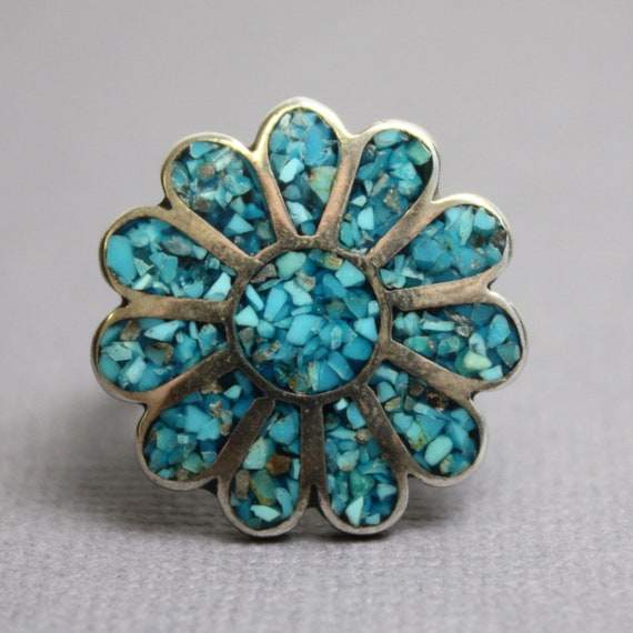 Antique Turquoise Ring, Vintage Turquoise Ring, Tu