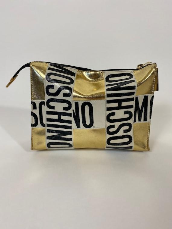Gold Moschino Clutch