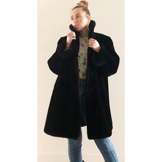 VNTG Teddy-Bear Faux Fur Coat