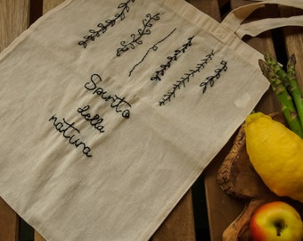 """Shopper """"Plants"""" in organic cotton """"Spirit of Nature"""", ecofriendly, sustainable"""