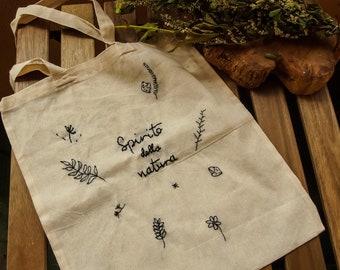"Shopper ""Acorn"" in organic cotton ""Spirit of Nature"", ecofriendly, sustainable"