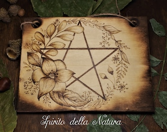 Hanging decorative plate, wicca handcraft, custom gift
