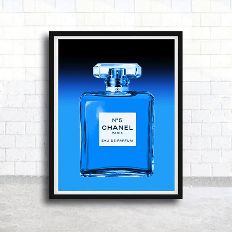 Chanel Printable Art Chanel Digital Print Chanel Blue Etsy