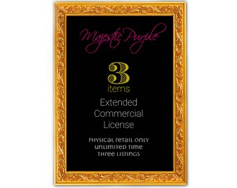Extended Commercial license for three listings