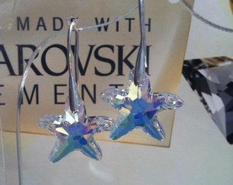 Earrings with Swarovsky crystal