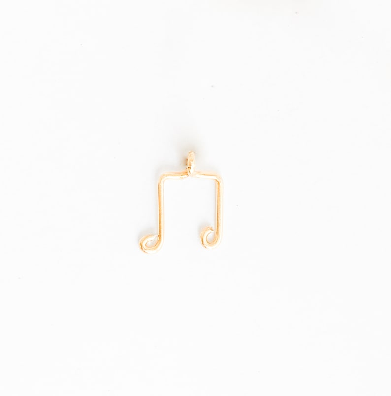 Musical Note Rose Gold 9mm*12mm Gold Handmade Music Charm 1 Pc Silver Music Note Charm Music Note Pendant Charm