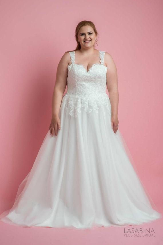 Plus Size Wedding Dress Vintage Wedding Dress Boho Wedding Etsy