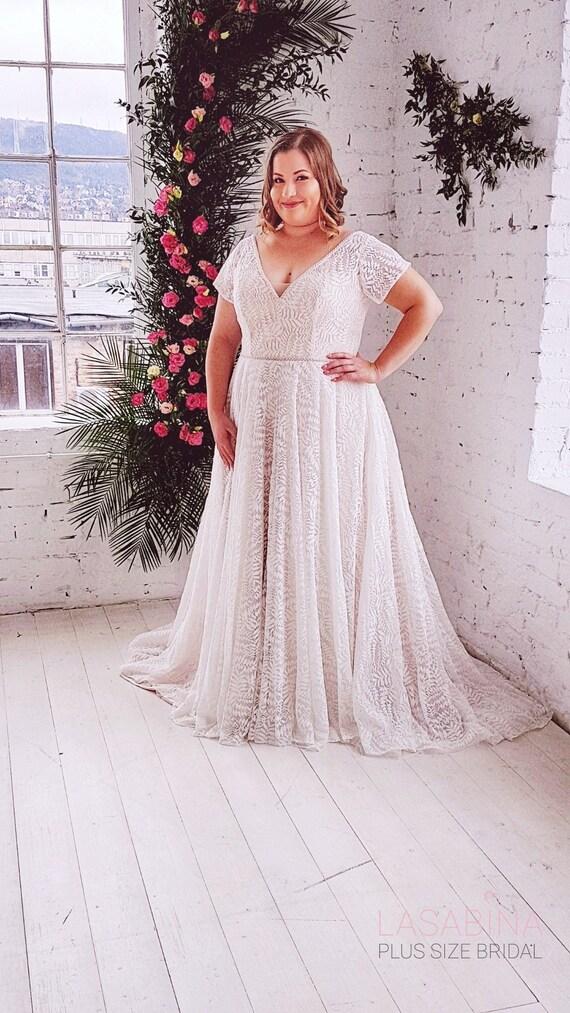 Plus Size Wedding Dress Vintage Plus Size Wedding Dress Etsy