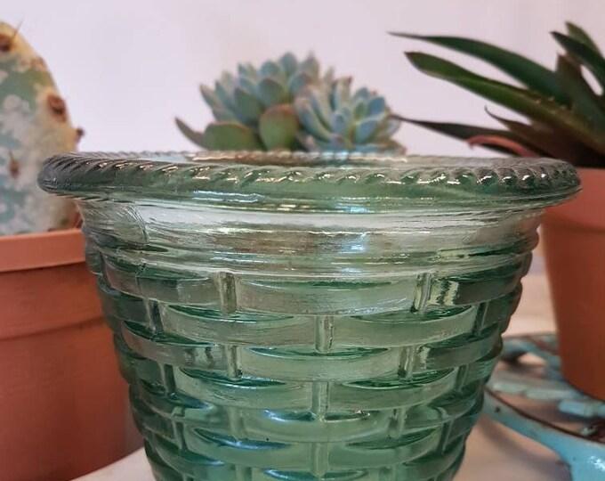 Vintage glass pot cover