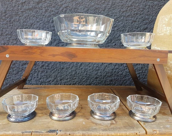 Italian vintage glass service