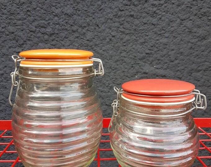 Duo vintage jars