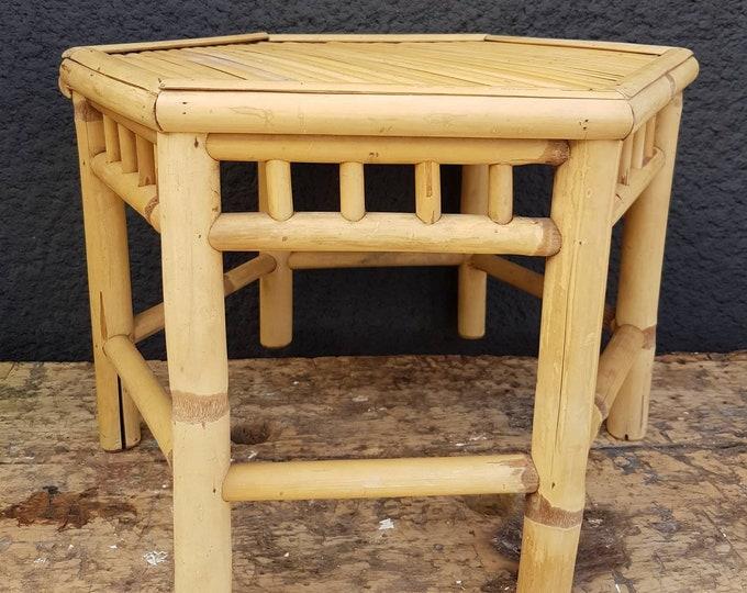 Bamboo orthogonal side table