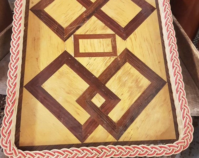 Vintage marquetry platter