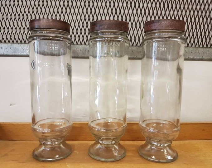 Trio glass jars