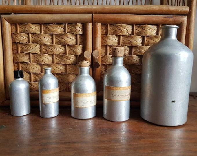 Old pharmaceutical metal bottles