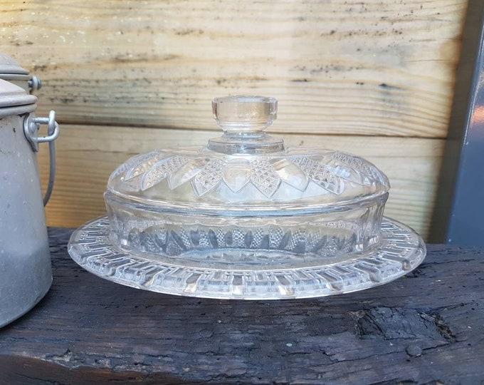 Vintage glass butter