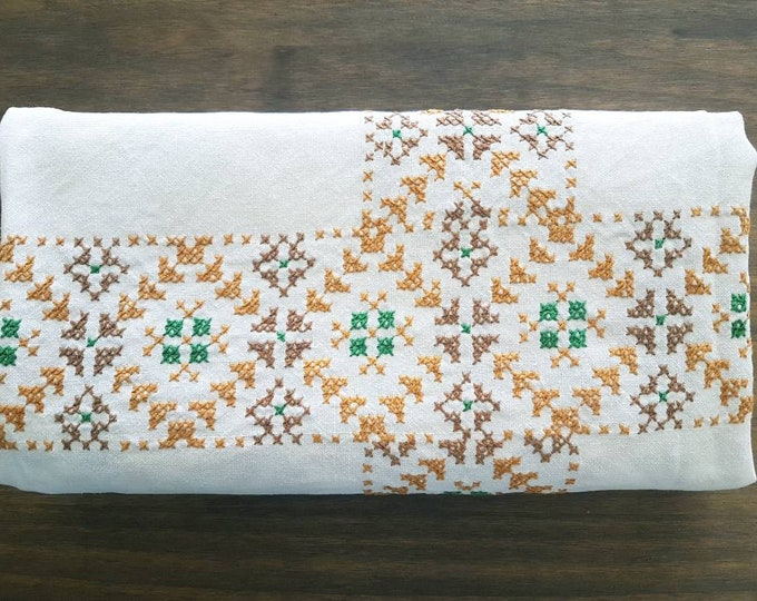 Vintage embroidery tablecloth