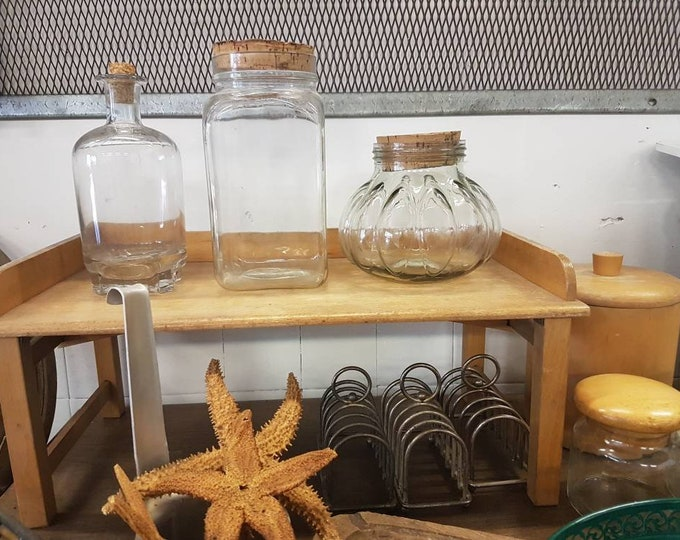 Pot, glass jar