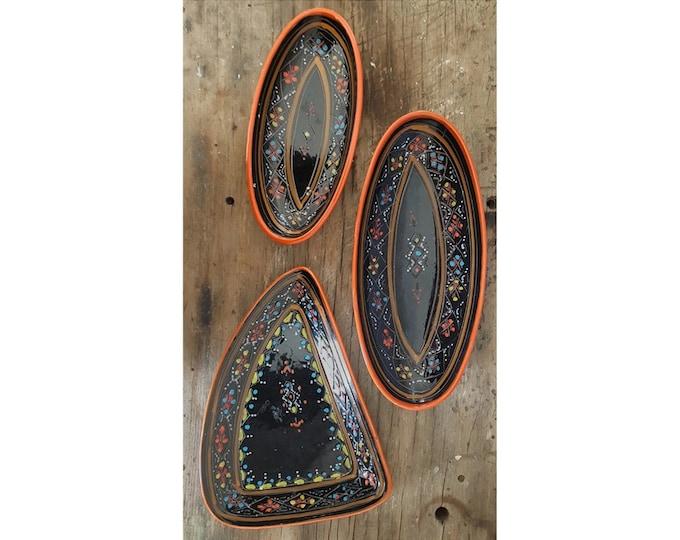 Trio ceramic plates