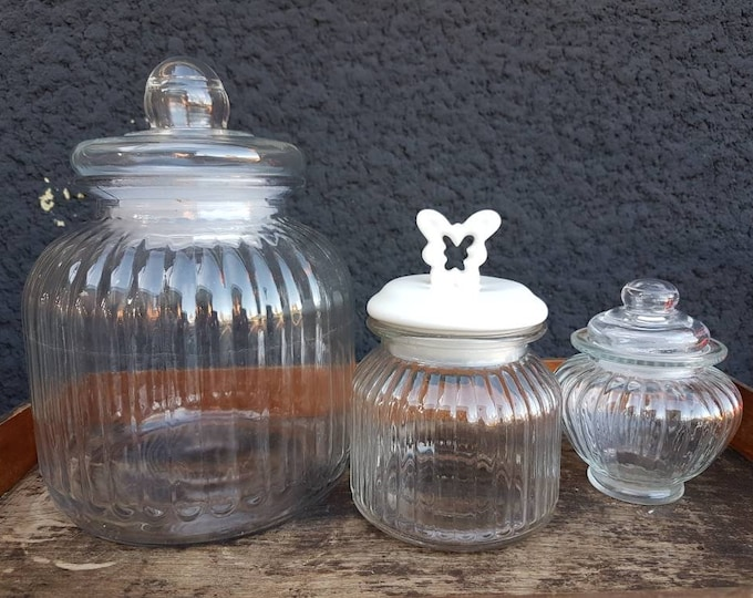 Trio candy jars