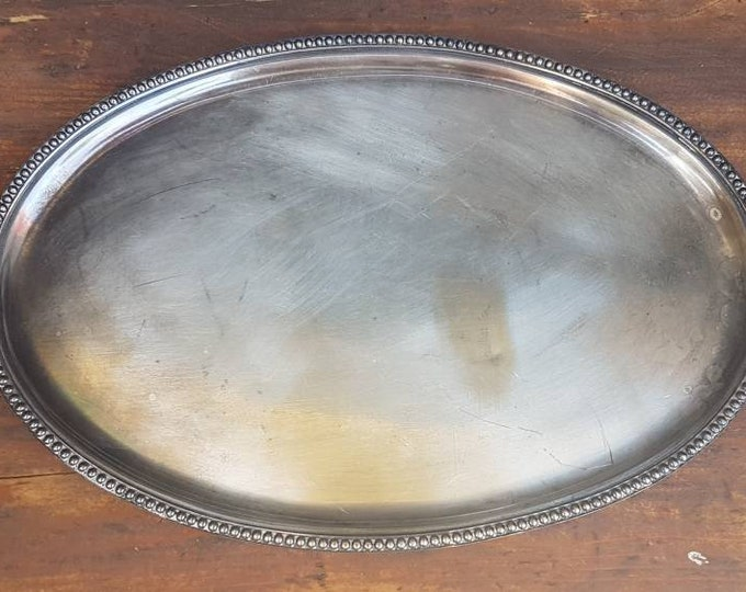 Old silver dish