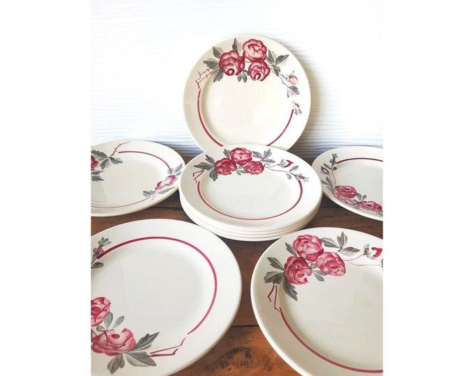 Service 11 plates Sarreguemine