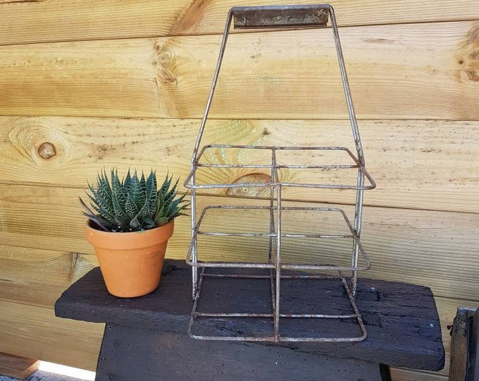 Industrial metal bottle holder
