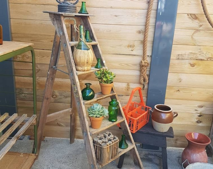Craft ladder, vintage workshop