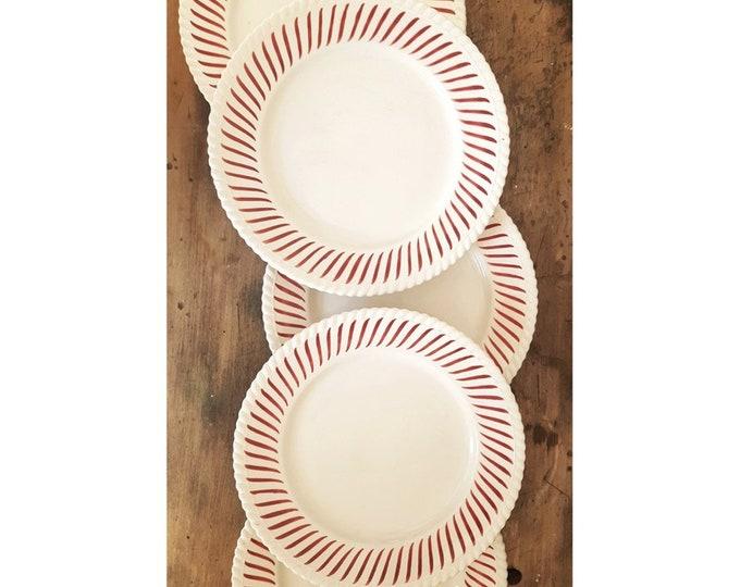 Service 8 vintage plates