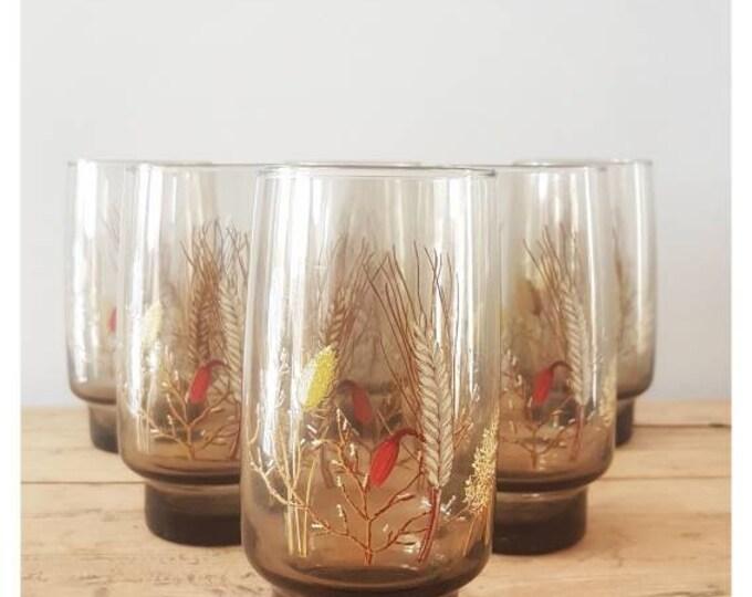 Service 6 vintage glass