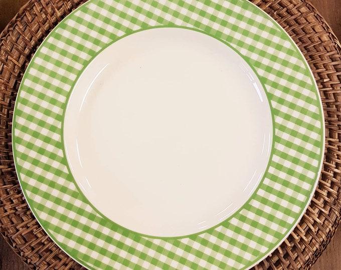 Service 6 vintage vichy plates