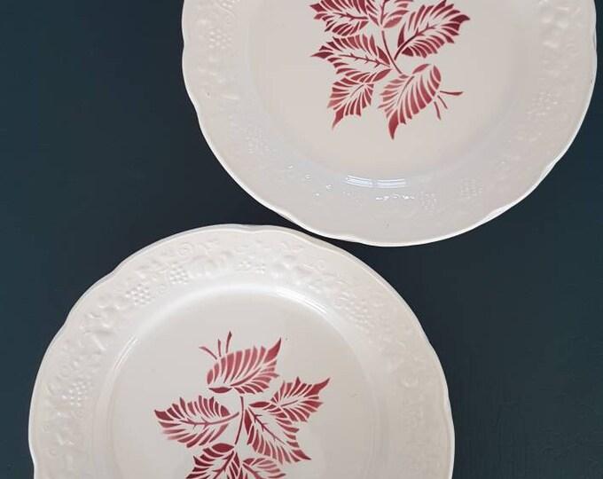 Service 8 vintage digoin plates