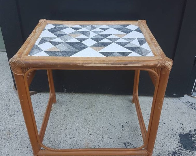 Bamboo booster table