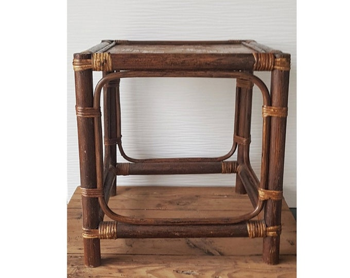 Rattan bamboo support