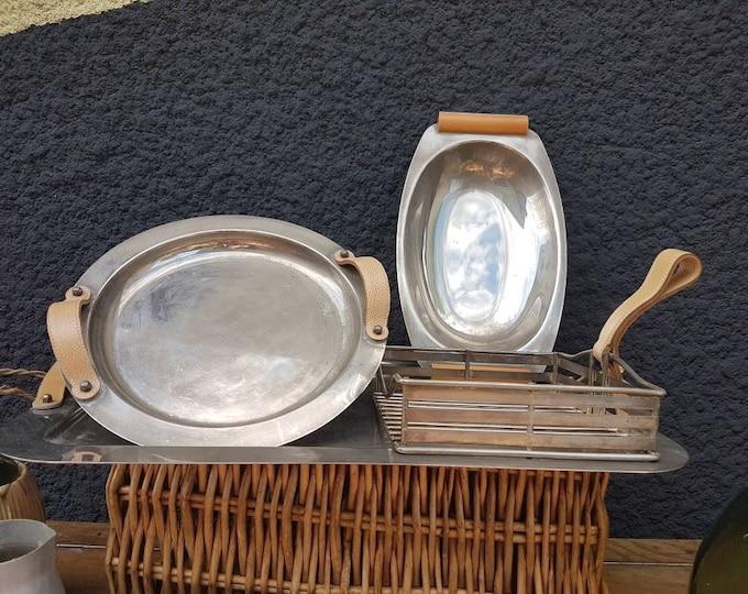 Vintage silver tray service