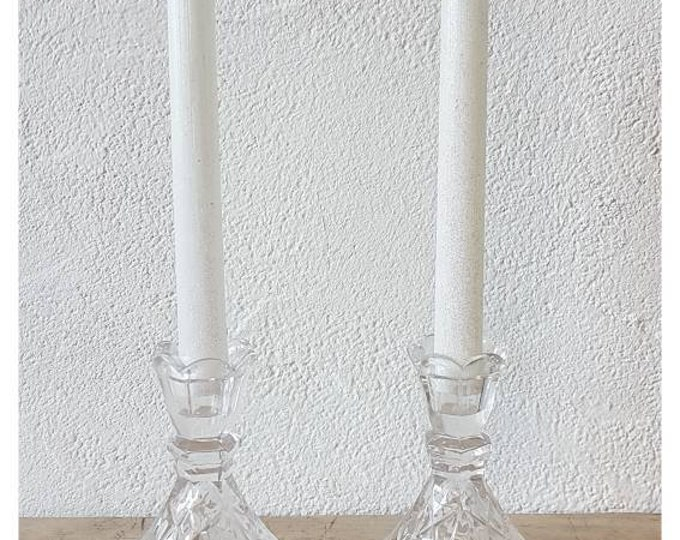 Duo door candles chiseled glass