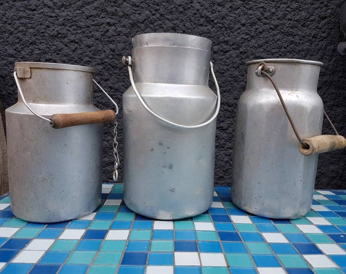 Trio old milk pots
