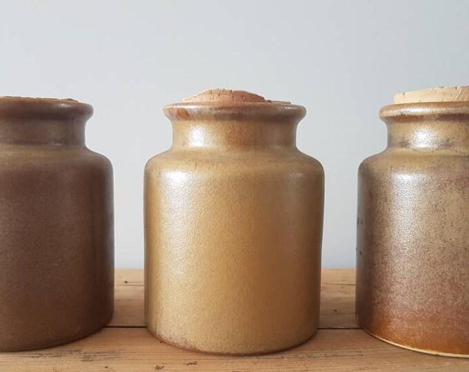 Trio sandstone pots