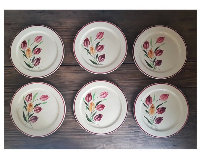 Service 6 old dessert plates